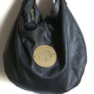 Mulburry Large Black Daria Leather Hobo Bag